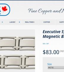 *1200*Magnetna narukvica SABONA CANADA Tungsten