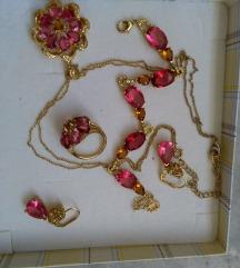Ungaro nakit pozlaten со рубини