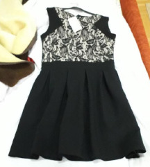 Novo crno cipkano fustance so etiketa