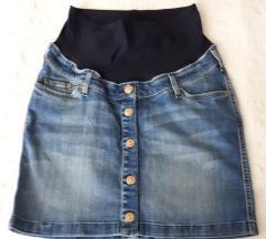 Nova teksas suknja za trudnici H&M
