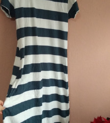 Mornarski leten fustan xl