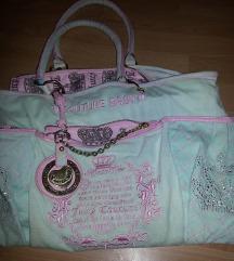 Rezervirano.Juicy couture orginal plisana torba