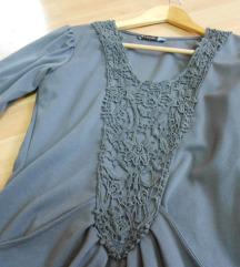 Siv fustan so aplikacii