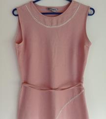 Елегантен нежно розев фустан