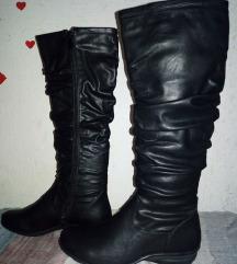 нови црни чизми обложени со крзно (60% попуст)