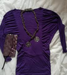 Лилава туника+плик+гердан