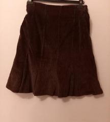Krupen somot-raskroena suknja