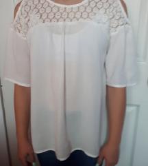 Детска бела блуза