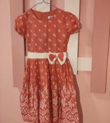 Пунчово чипкано фустанче