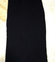 Dolg crn fustan za pokrupni