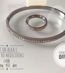 Set alka +prsten od medicinski celik