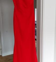 Елегантен црвен фустан