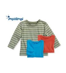 3 НОВИ ' Impidimpi' блузички за бебе од 3-6 месеци