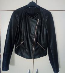 црно кожно палто ZARA