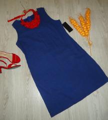Nov Okitex fustan , len (so etiketa)
