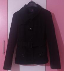 Crn kratok kaput-palto M/L