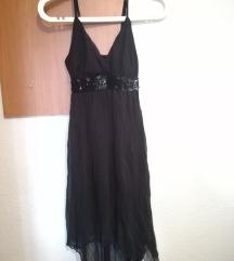 Црно свечено фустанче - рез