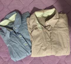 Плава и розе долга кошула
