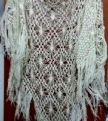 Рачно плетен~Голем шал **со реси**