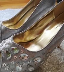 NOVI srebreni sandali