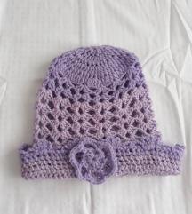 Zimska kapa racno pletena