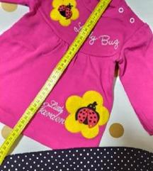 НОВ комплет за девојче бебе памучен бубамара
