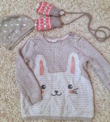 H&M џемперче,капа и ракавички