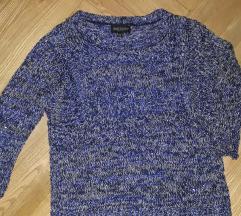 Блуза со светки со тричетврти ракави M-L