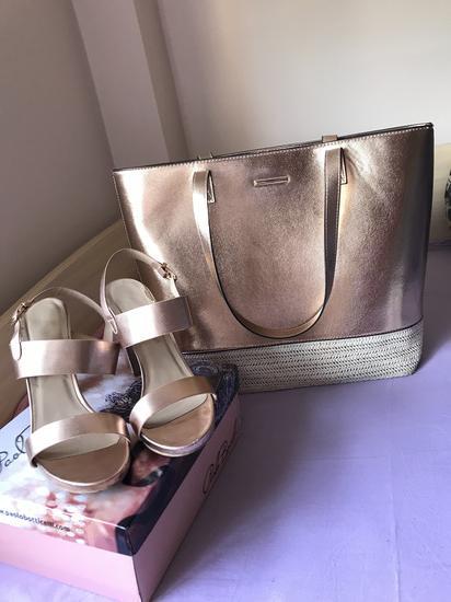 Rose gold tasna + sandali