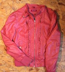 Црвена кожна јакна
