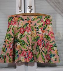 Bershka cvetna suknja