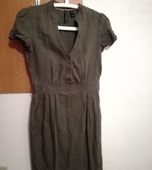 MANGO - лен фустан ➡ 100den