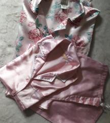 Нови свилени пижами+наметка