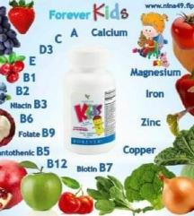 Forever мултивитамини за деца-со овошје, зеленчук