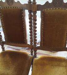 Nekoristena masa so 6 stolici od masivno drvo
