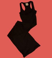 Crn maxi fustan
