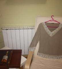 Маслинеста блуза - со дезен