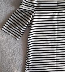 Црно-бела ликра маичка