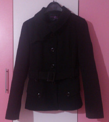 Crno palto kaputce M/L