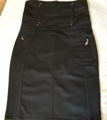 Црна сукња со висок струк Резерв.