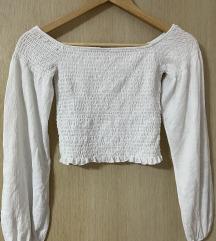 Бела летна маица од Bershka
