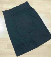 Crna elasticna suknja