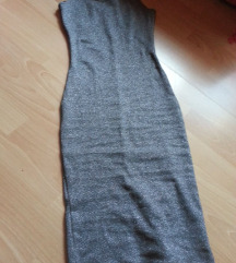 Pull Bear novo fustance sivo svetkavo  rasteglivo