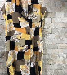 rez Широк шарен фустан