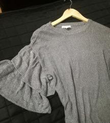 Sivo srebrena bluza
