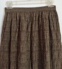 Скроз нова маслинеста сукња