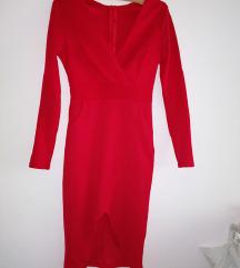 Црвен Елегантен фустан 💋