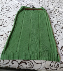 Zelena volna trikotaza suknja