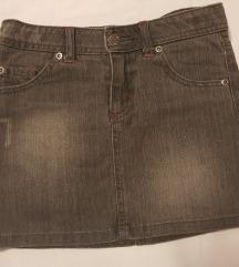Detska teksas suknja siva, 6-8 god