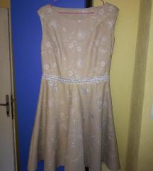 Кремов фустан